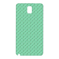 Pink Flowers Green Samsung Galaxy Note 3 N9005 Hardshell Back Case