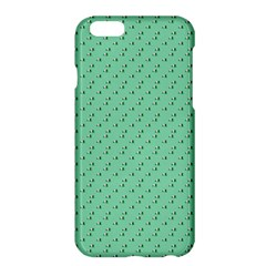 Pink Flowers Green Apple Iphone 6 Plus/6s Plus Hardshell Case