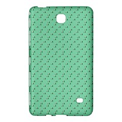 Pink Flowers Green Samsung Galaxy Tab 4 (8 ) Hardshell Case