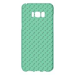 Pink Flowers Green Samsung Galaxy S8 Plus Hardshell Case