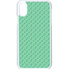 Pink Flowers Green Apple Iphone X Seamless Case (white)
