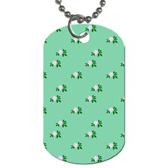 Pink Flowers Green Big Dog Tag (two Sides)