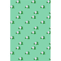 Pink Flowers Green Big 5 5  X 8 5  Notebooks