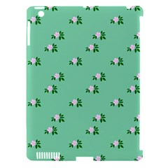 Pink Flowers Green Big Apple Ipad 3/4 Hardshell Case (compatible With Smart Cover)