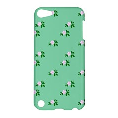 Pink Flowers Green Big Apple Ipod Touch 5 Hardshell Case