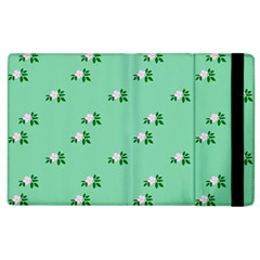 Pink Flowers Green Big Apple Ipad 2 Flip Case