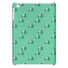 Pink Flowers Green Big Apple Ipad Mini Hardshell Case