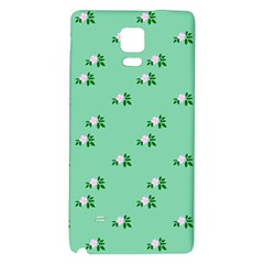 Pink Flowers Green Big Galaxy Note 4 Back Case