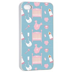 Baby Pattern Apple Iphone 4/4s Seamless Case (white)