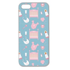 Baby Pattern Apple Seamless Iphone 5 Case (clear)