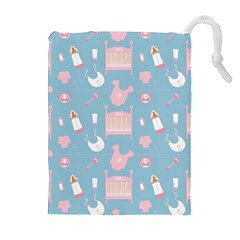 Baby Pattern Drawstring Pouches (extra Large)