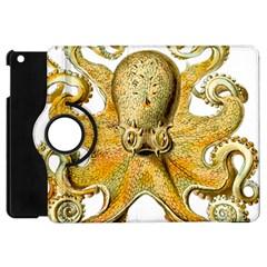 Gold Octopus Apple Ipad Mini Flip 360 Case