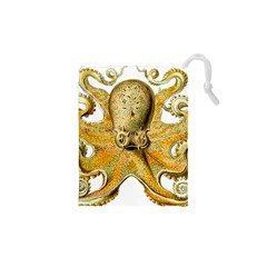 Gold Octopus Drawstring Pouches (xs)