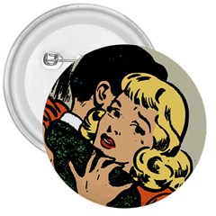 Hugging Retro Couple 3  Buttons