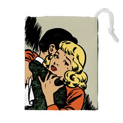 Hugging Retro Couple Drawstring Pouches (extra Large)