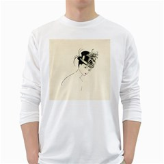 Vintage 2517507 1920 White Long Sleeve T Shirts