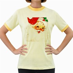 Santa Claus 1827265 1920 Women s Fitted Ringer T Shirts