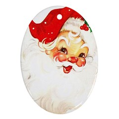 Santa Claus 1827265 1920 Oval Ornament (two Sides)