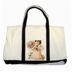 Girl 1731727 1920 Two Tone Tote Bag