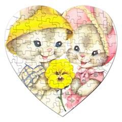 Rabbits 1731749 1920 Jigsaw Puzzle (heart)
