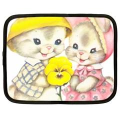 Rabbits 1731749 1920 Netbook Case (xl)