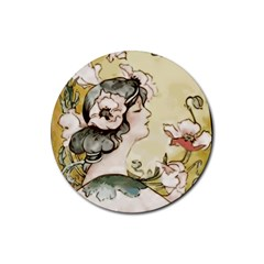 Lady 1650603 1920 Rubber Coaster (round)