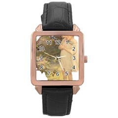 Vintage 1650586 1920 Rose Gold Leather Watch
