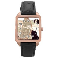 Woman 1503387 1920 Rose Gold Leather Watch