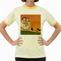 Halloween 1461955 1920 Women s Fitted Ringer T Shirts