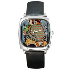 Witch 1462701 1920 Square Metal Watch