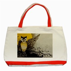 Owl 1462736 1920 Classic Tote Bag (red)
