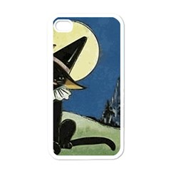 Black Cat 1462738 1920 Apple Iphone 4 Case (white)