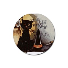 Owls 1461952 1920 Rubber Round Coaster (4 Pack)