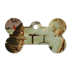Witch 1461958 1920 Dog Tag Bone (two Sides)