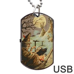 Witch 1461958 1920 Dog Tag Usb Flash (one Side)