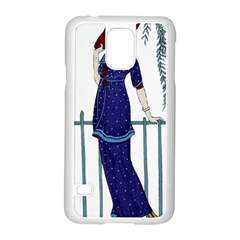 Lady 1318887 1920 Samsung Galaxy S5 Case (white)