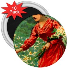 Lady 1334282 1920 3  Magnets (10 Pack)