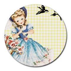Girl 1370912 1280 Round Mousepads