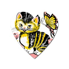 Cat 1348502 1920 Heart Magnet