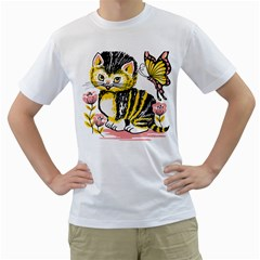 Cat 1348502 1920 Men s T Shirt (white)