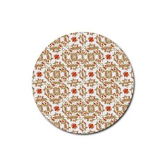 Colorful Modern Pattern Rubber Coaster (round)