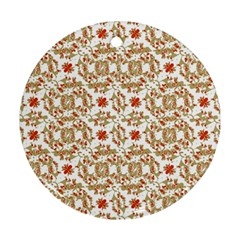 Colorful Modern Pattern Round Ornament (two Sides)