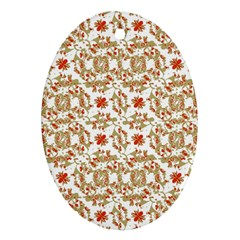 Colorful Modern Pattern Oval Ornament (two Sides)