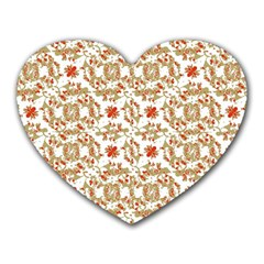 Colorful Modern Pattern Heart Mousepads