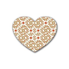 Colorful Modern Pattern Rubber Coaster (heart)