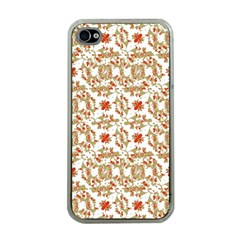 Colorful Modern Pattern Apple Iphone 4 Case (clear)
