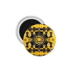 Ornate Circulate Is Festive In A Flower Wreath Decorative 1 75  Magnets