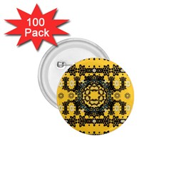 Ornate Circulate Is Festive In A Flower Wreath Decorative 1 75  Buttons (100 Pack)