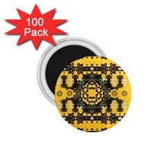 Ornate Circulate Is Festive In A Flower Wreath Decorative 1 75  Magnets (100 Pack)