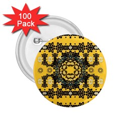 Ornate Circulate Is Festive In A Flower Wreath Decorative 2 25  Buttons (100 Pack)